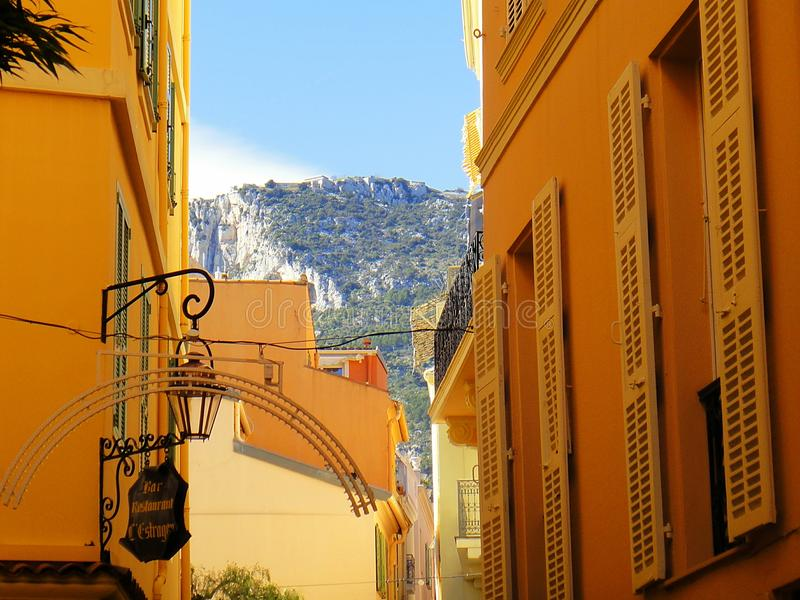 Monaco góry zdjęcia stock