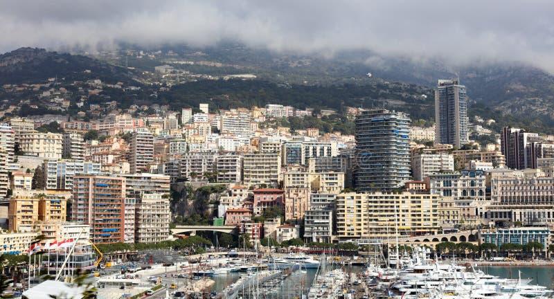 Monaco Grand Prix French riviera, Côte d`Azur, mediterranean coast, Eze, Saint-Tropez, Cannes. Blue water and luxury yachts. Monaco Grand Prix Formula one stock images