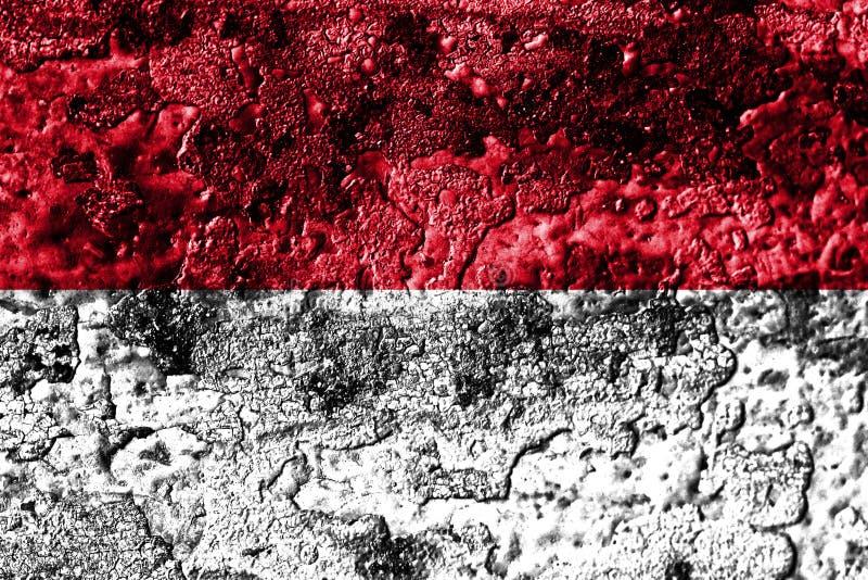 Monaco grunge rostade metalltexturflaggan, rostmetallbakgrund vektor illustrationer
