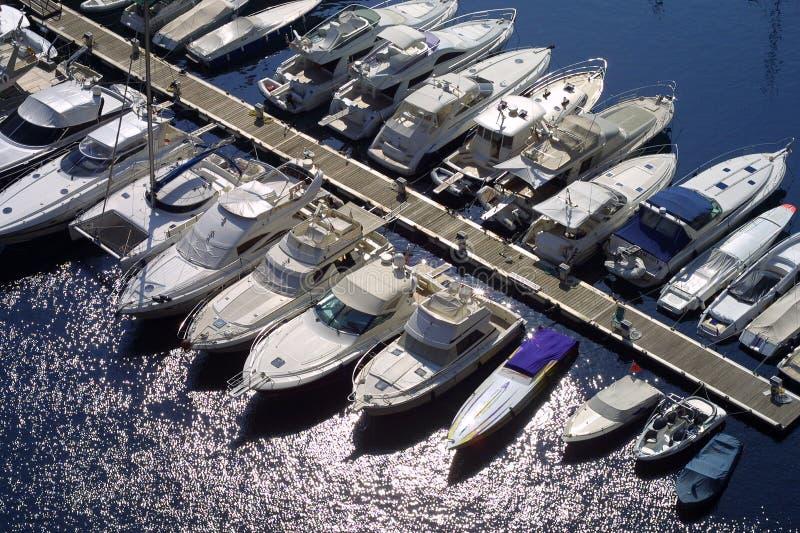 Monaco-Jachthafen stockfoto