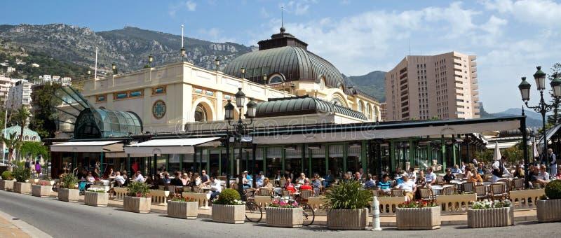 Monaco - kafé de Paris arkivbilder