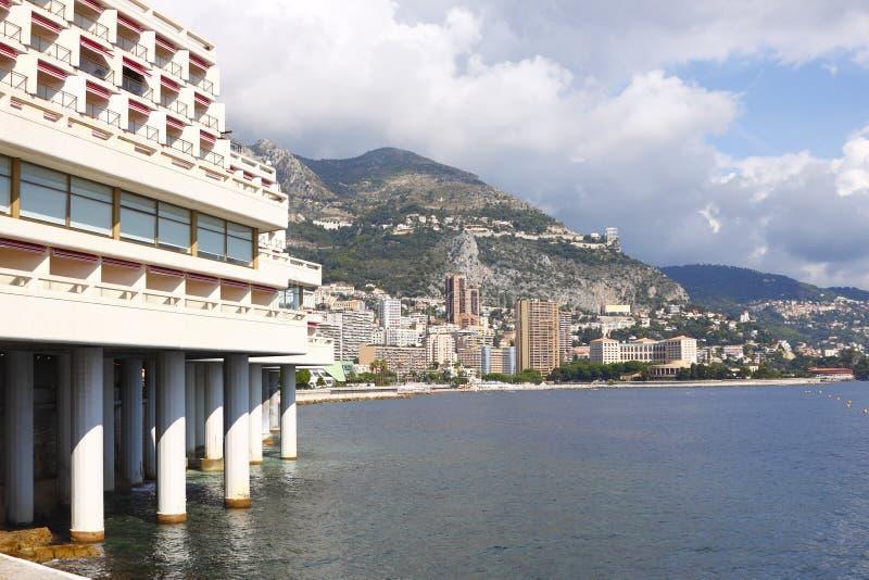 Monaco kustlinje fotografering för bildbyråer
