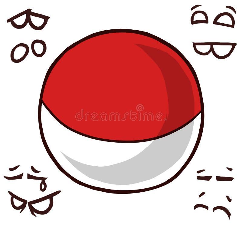 Monaco landsboll royaltyfri illustrationer