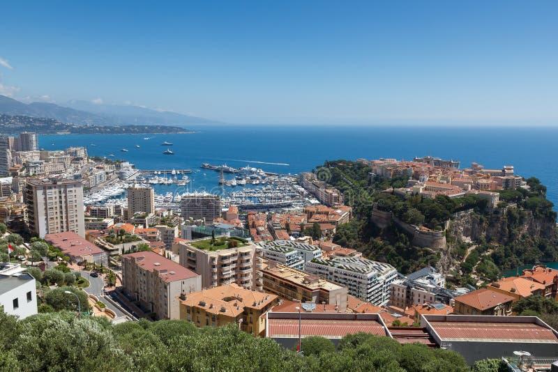 Monaco Le Rocher arkivbild