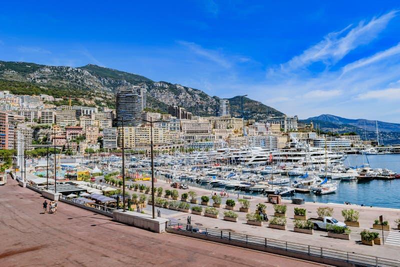 Monaco linia horyzontu zdjęcia royalty free