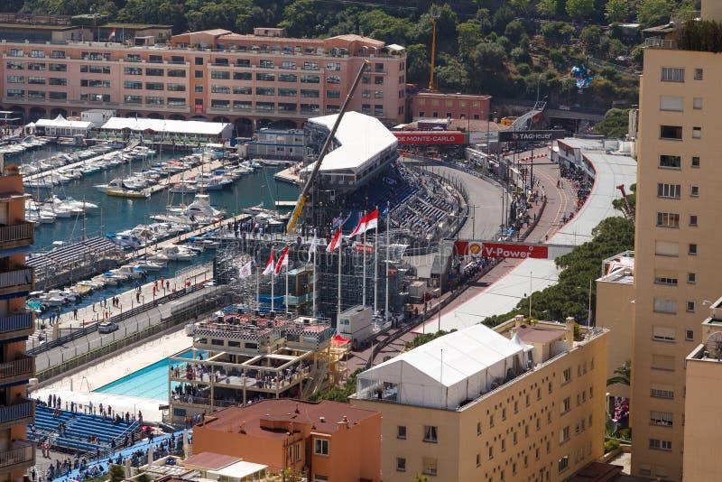 Monaco Maj 23, GP för Monaco formel 1 arkivfoto