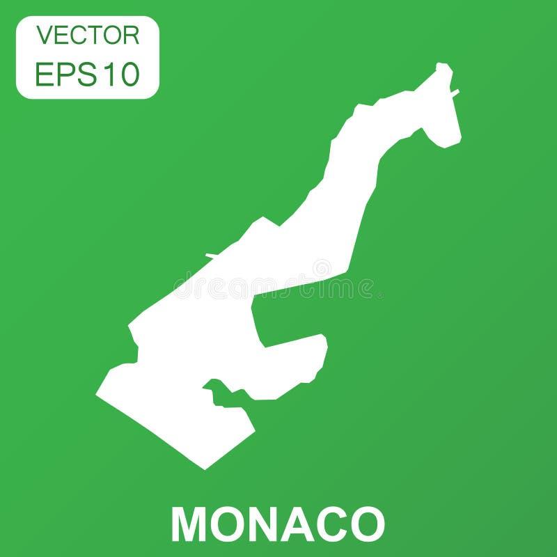 Monaco map icon. Business concept Monaco pictogram. Vector illus royalty free illustration