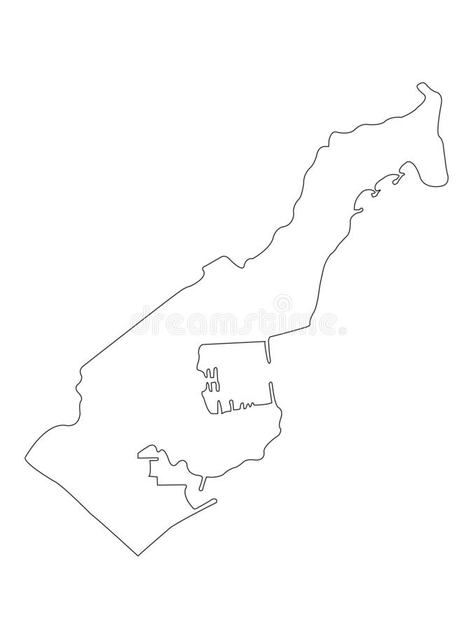 Monaco map - Principality of Monaco. Vector file of Monaco map - Principality of Monaco, sovereign city-state, country and microstate on the French Riviera in vector illustration