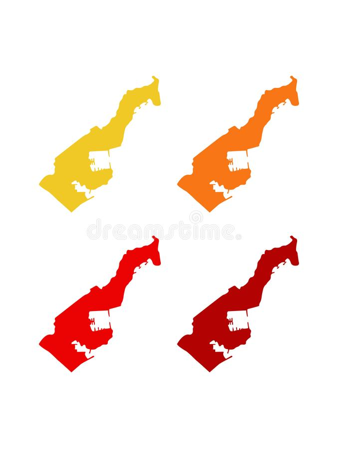 Monaco map - Principality of Monaco. Vector file of Monaco map - Principality of Monaco, sovereign city-state, country and microstate on the French Riviera in royalty free illustration