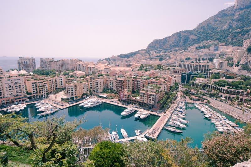 Monaco Marina arkivfoton