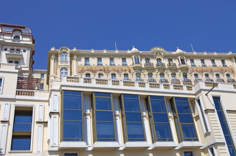Monaco. MONTE CARLO, MONACO: Luxury apartments in Monte Carlo, Monaco major financial and touristic landmark in Europe stock image