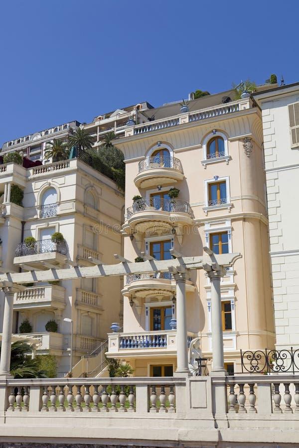 Monaco. MONTE CARLO, MONACO: Luxury apartments in Monte Carlo, Monaco major financial and touristic landmark in Europe stock photography