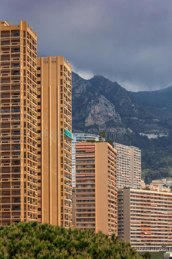 Monaco, Monte Carlo. Monaco is the second smallest and the most densely populated country in the world stock photos