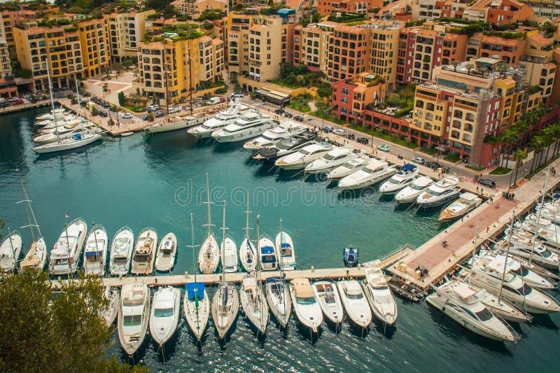 Monaco, Monte Carlo Panoramic-Ansicht der Stadt stockfotografie
