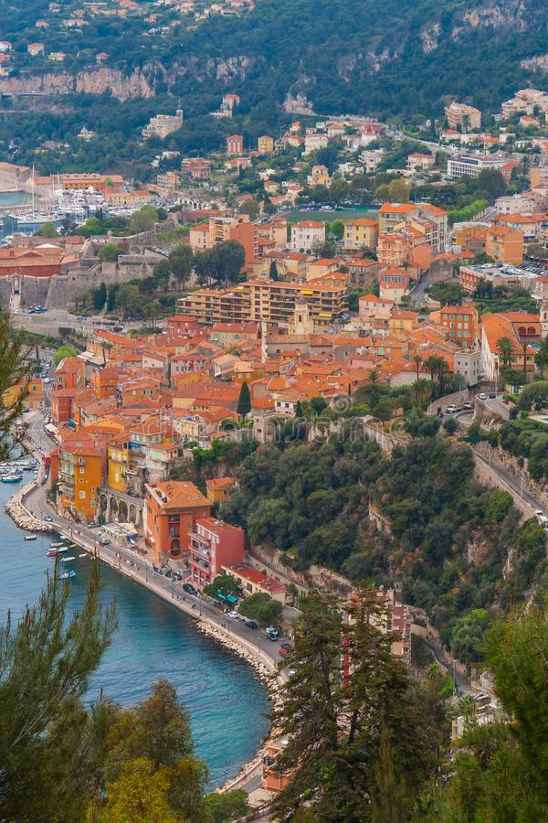 Monaco, Monte Carlo Panoramic-Ansicht der Stadt stockbild