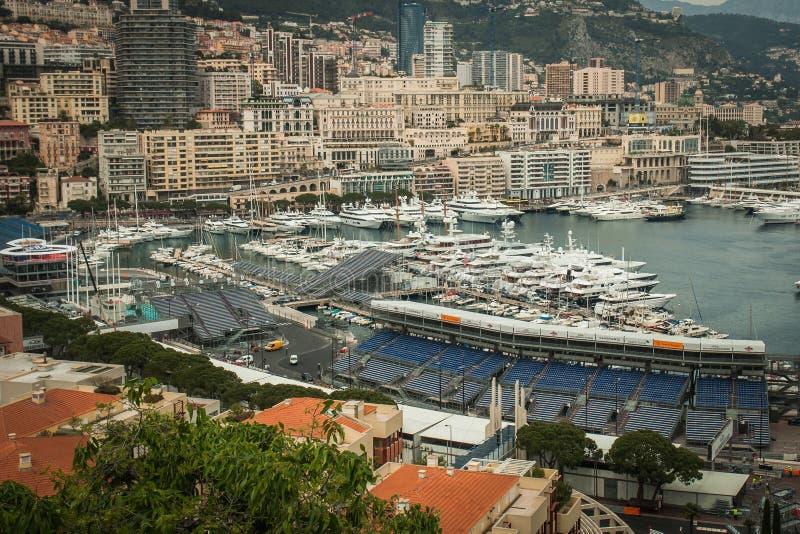 Monaco, Monte Carlo Panoramic-Ansicht der Stadt lizenzfreies stockfoto