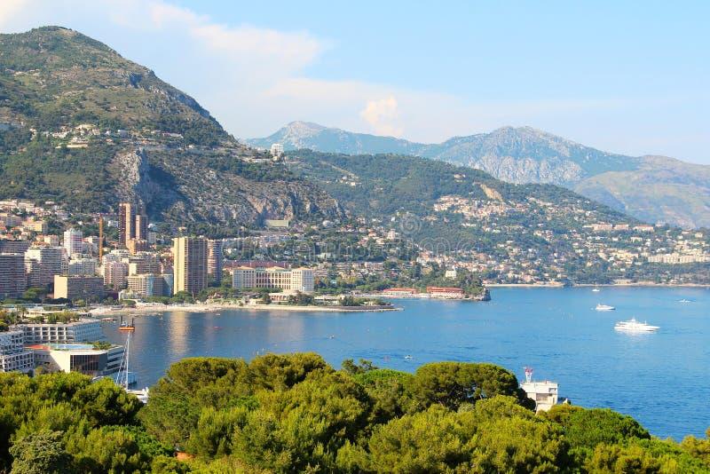 Monaco - Monte - carlo sikt fotografering för bildbyråer