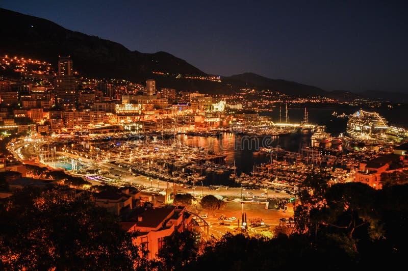 Monaco nocą fotografia stock