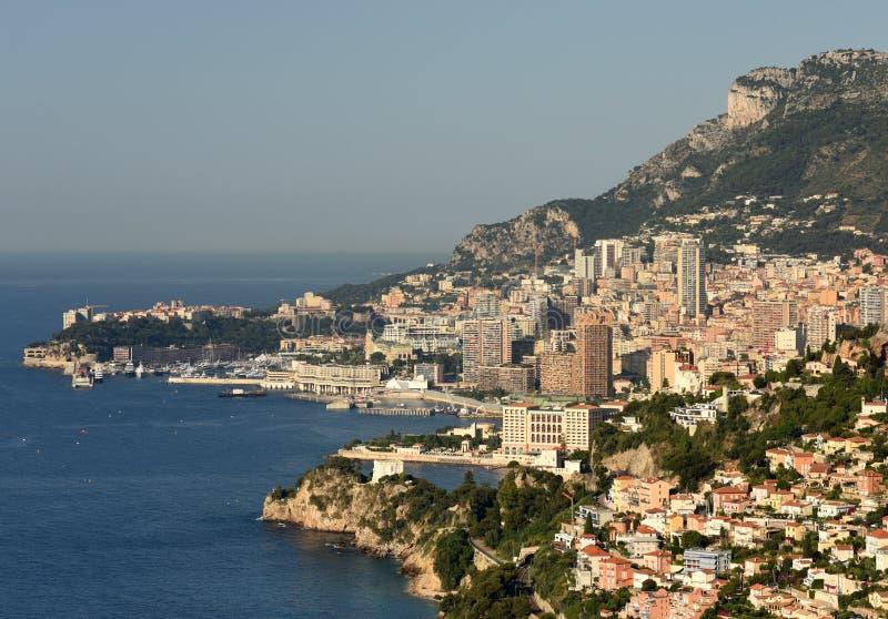 Monaco och Beausoleil, Cote d'Azur av franska Riviera royaltyfri fotografi