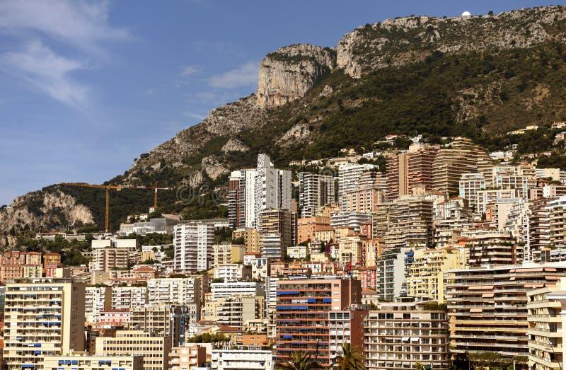 Monaco och Beausoleil fastighet, Cote d'Azur av franska Riviera arkivfoton