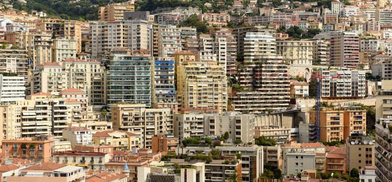 Monaco och Beausoleil fastighet, Cote d'Azur av franska Riviera arkivbild