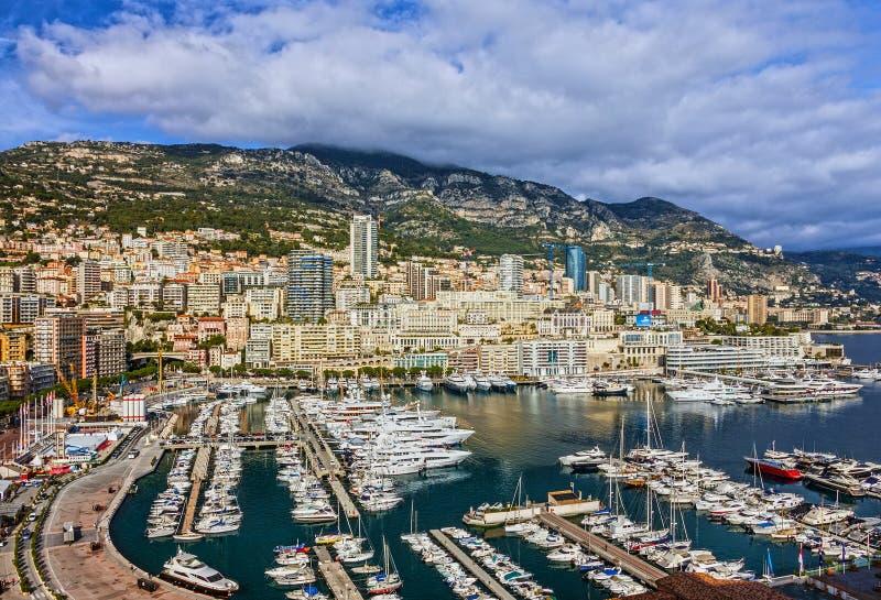 Monaco och Monte - carlo furstendöme, söder av Frankrike arkivbild