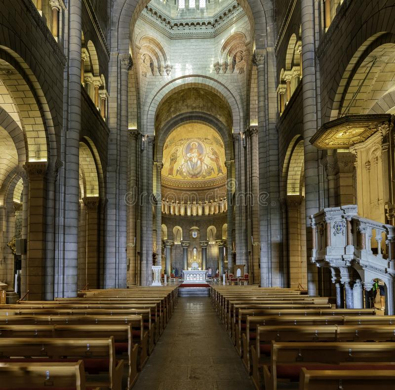 Interior view of the historical Saint Nicholas Cathedral stock photo