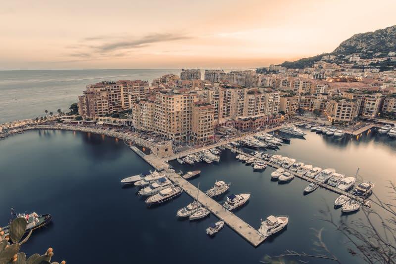 Monaco på den franska Rivieraen royaltyfria bilder