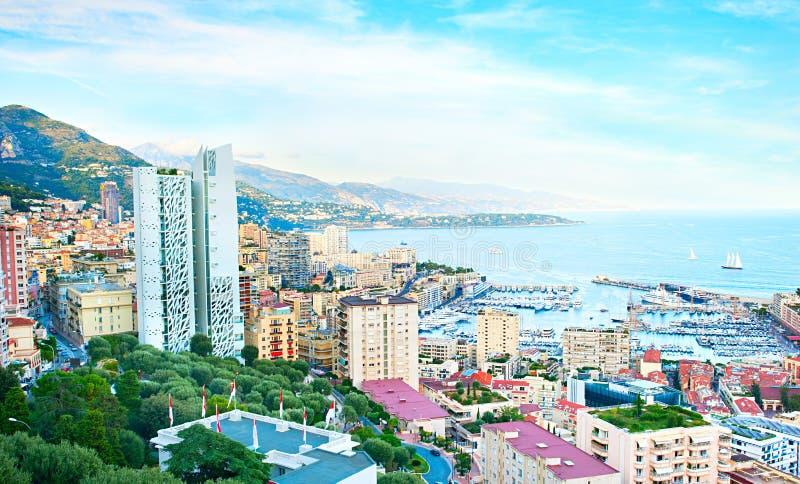 Monaco panorama obrazy stock