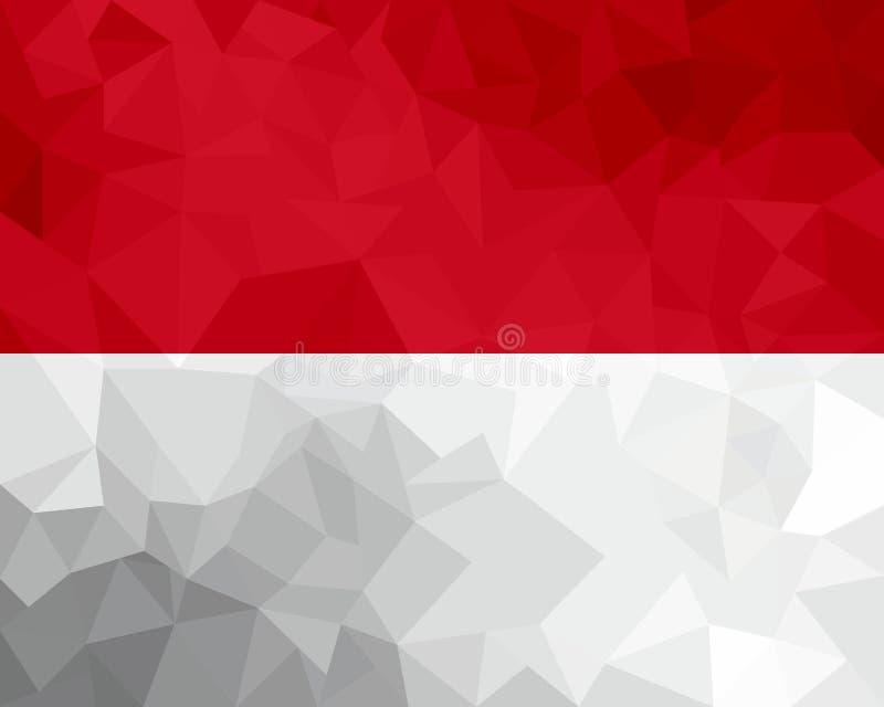 Monaco polygonal flagga Mosaisk modern bakgrund planlägg geometriskt royaltyfri illustrationer