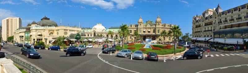Monaco-quadratisches Kasino - Panorama stockfotos
