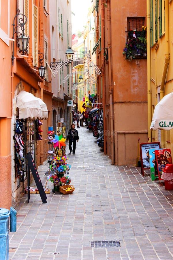 Monaco-Rosa-Straße lizenzfreie stockfotos