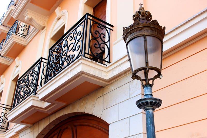 Monaco-Rosa-Straße stockbilder