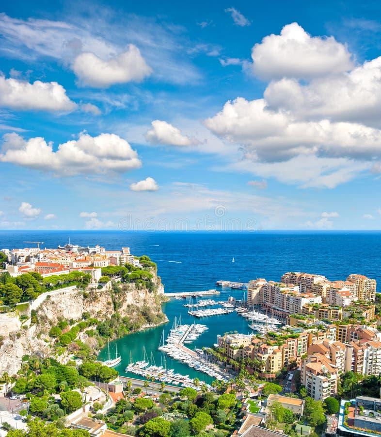 Monaco slottmedelhav franska riviera arkivbild