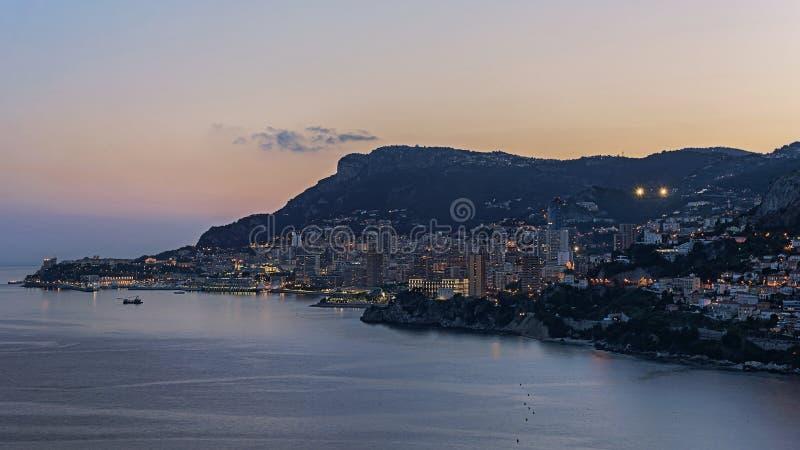 Monaco-Sonnenuntergang stockfotografie