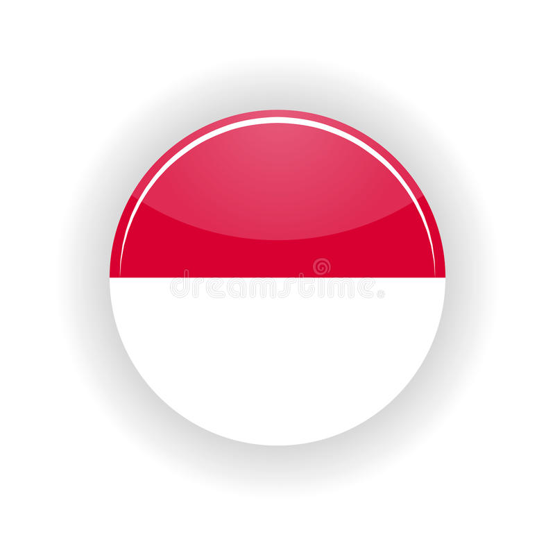 Monaco symbolscirkel royaltyfri illustrationer