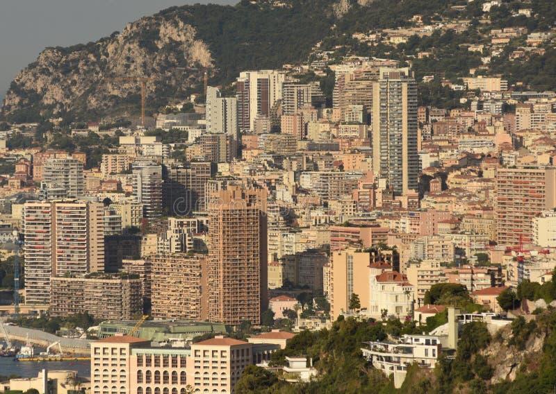 Monaco und Beausoleil stockbilder