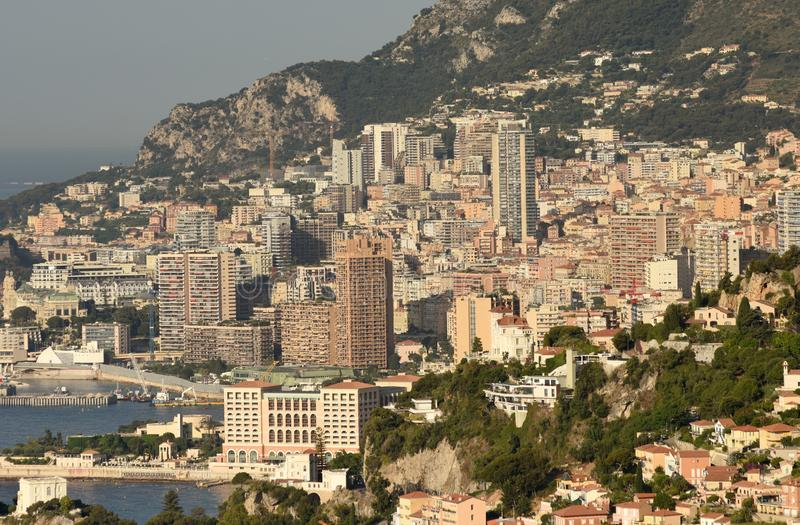 Monaco und Beausoleil, Cote d'Azur von französischem Riviera stockbild
