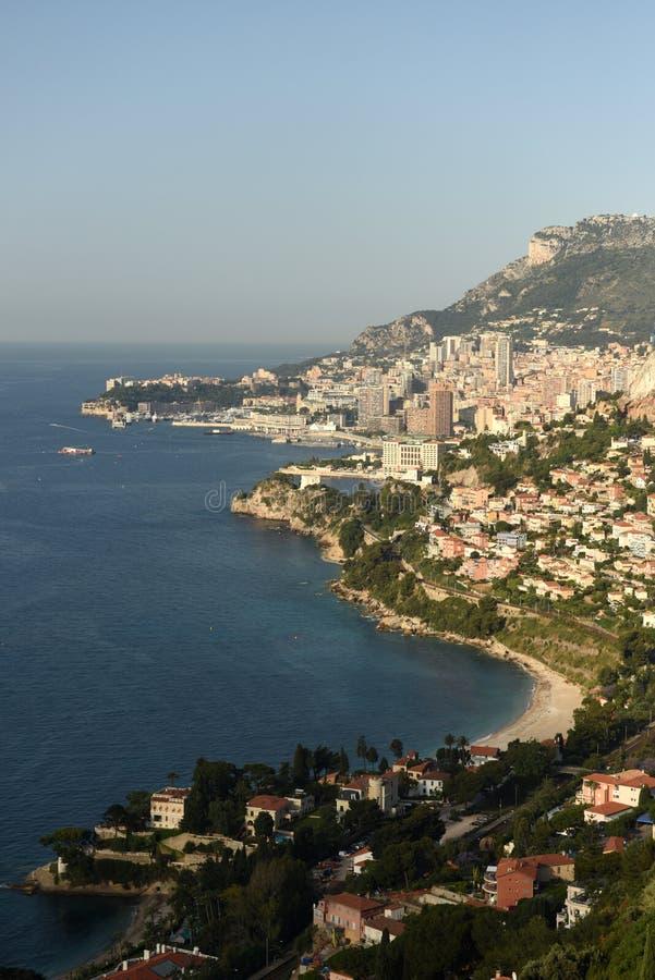 Monaco und Roquebrune-Kappe-Martin, Cote d'Azur von französischem Riviera lizenzfreies stockfoto