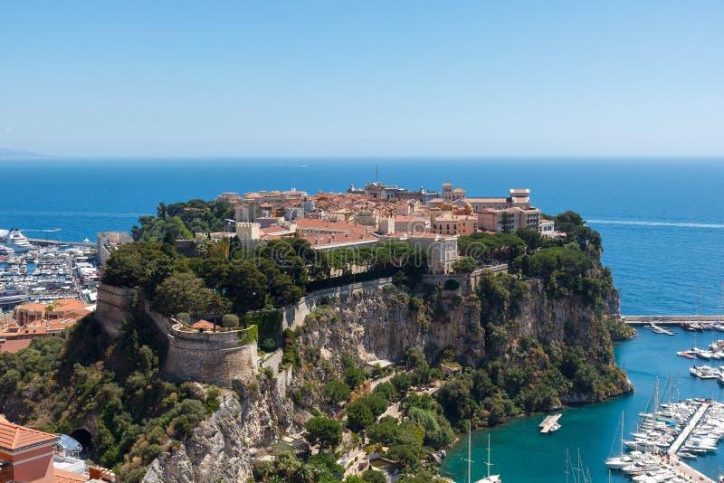 Monaco-Ville Le Rocher, gammal stad arkivbild