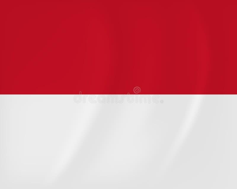Monaco vinkande flagga stock illustrationer