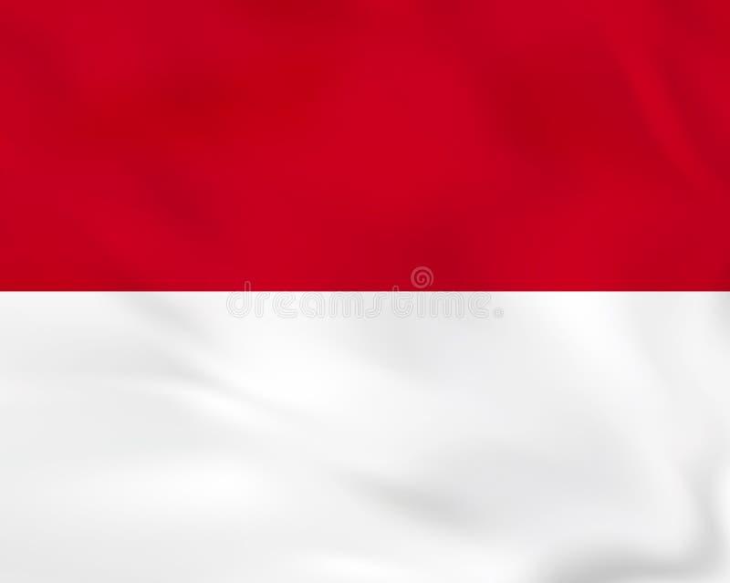 Monaco vinkande flagga Textur för Monaco nationsflaggabakgrund vektor illustrationer