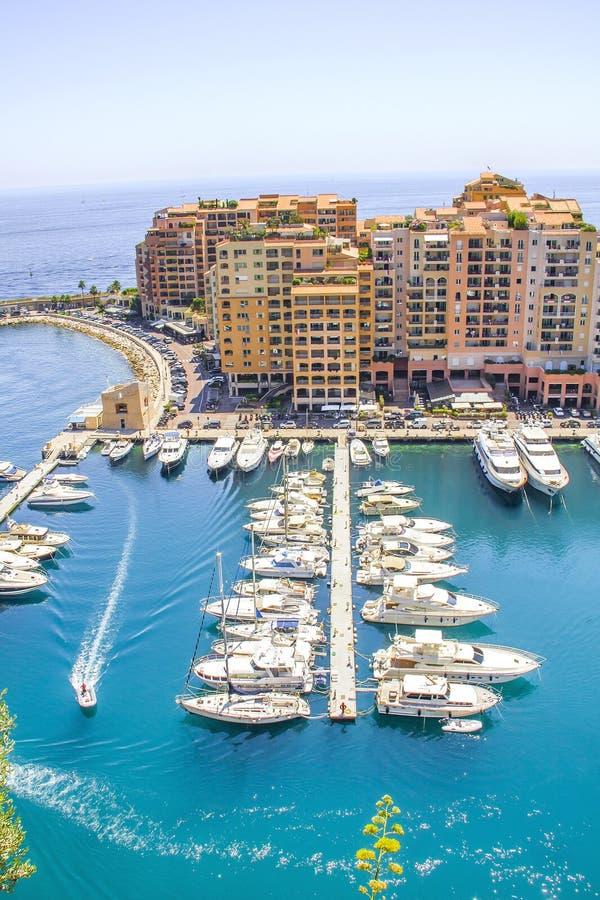 Monaco and yachts stock photo