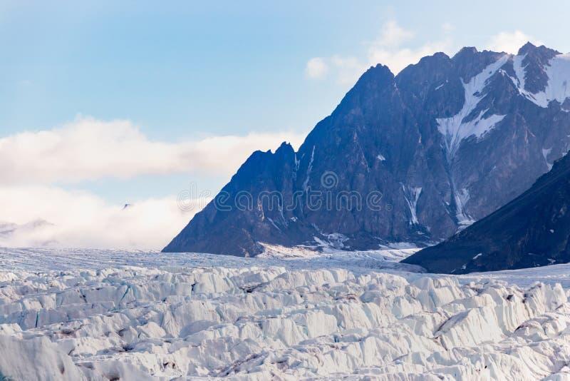 The Monacobreen - Monaco glacier in Liefdefjord, Svalbard, Norway. Detail of the Monacobreen Glacier at Liefdefjord, Svalbard, Norway royalty free stock images