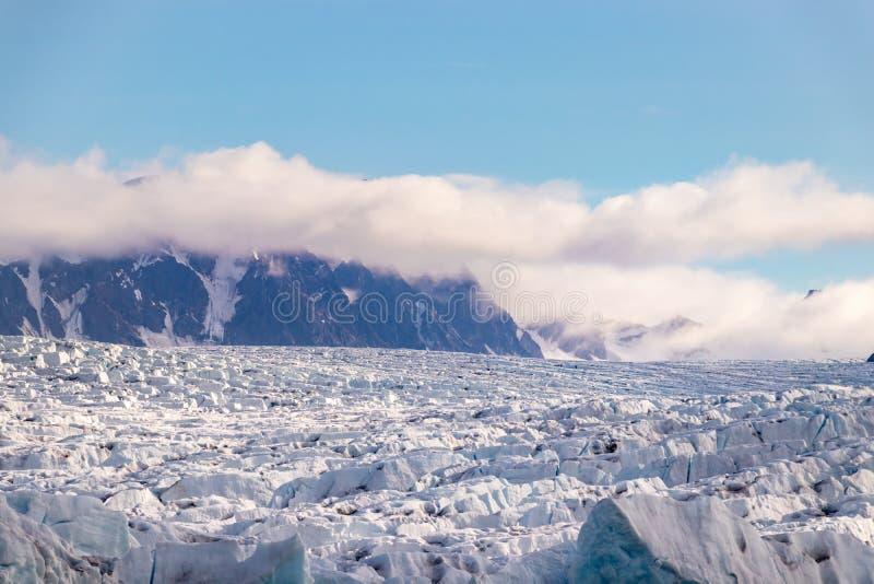 The Monacobreen - Monaco glacier in Liefdefjord, Svalbard, Norway. Detail of the Monacobreen Glacier at Liefdefjord, Svalbard, Norway royalty free stock image