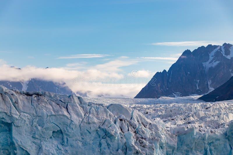 The Monacobreen - Monaco glacier in Liefdefjord, Svalbard, Norway. The Monacobreen Glacier at Liefdefjord, Svalbard, Norway stock images