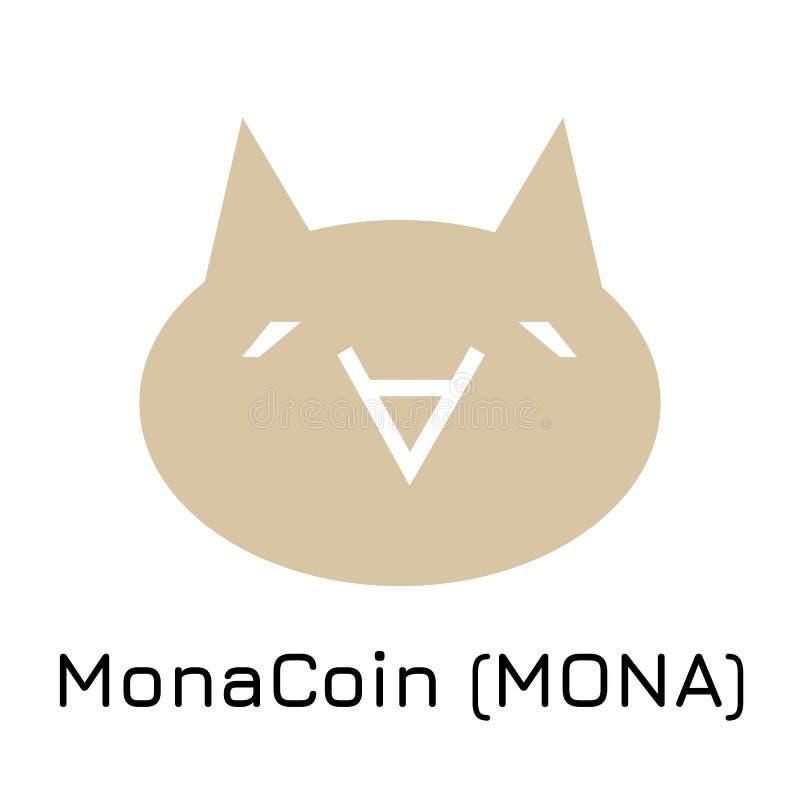 MonaCoin MONA Moneta cripto dell'illustrazione di vettore illustrazione vettoriale