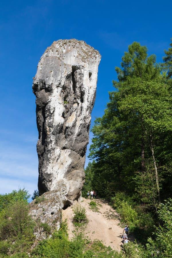 Monadnock del calcare, roccia chiamata fotografia stock