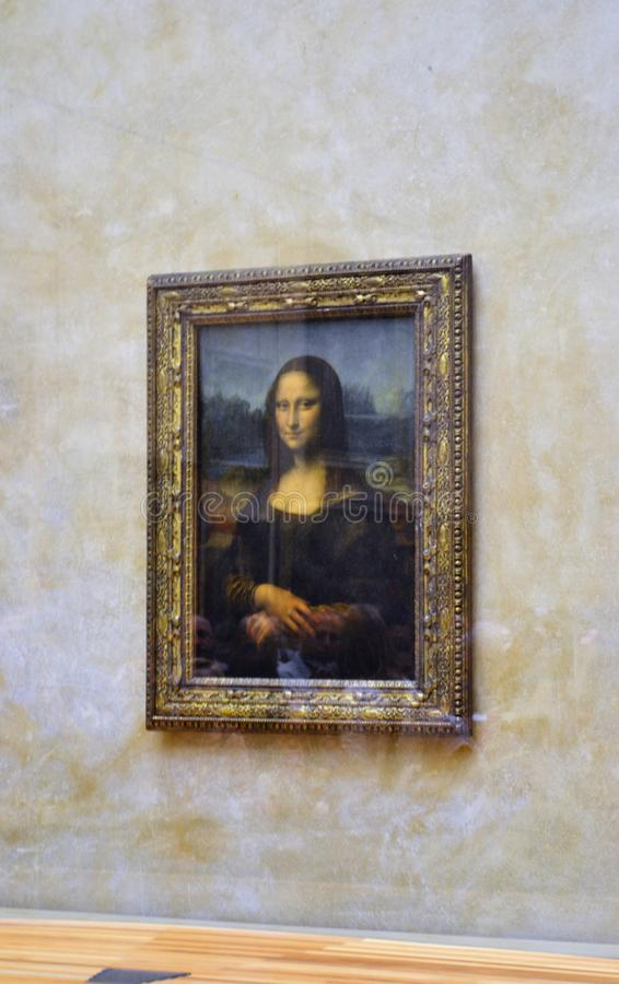Monalisa绘画 免版税库存照片