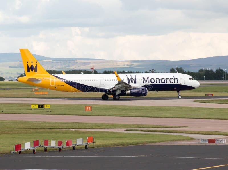 Monarca Airbus A321 fotos de archivo libres de regalías